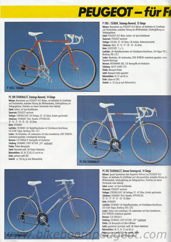 Peugeot 1990 Germany Brochure